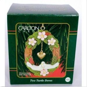 Carlton Cards Christmas Ornament Two Turtle Doves